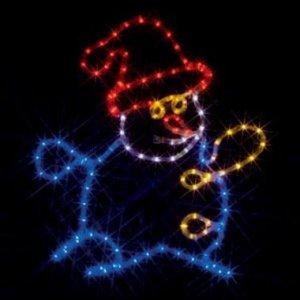 【クリックでお店のこの商品のページへ】ジェフコム LEDルミネーション 連結タイプ LEDモチーフ 雪だるま SJ-C14-N: 産業・研究開発用品