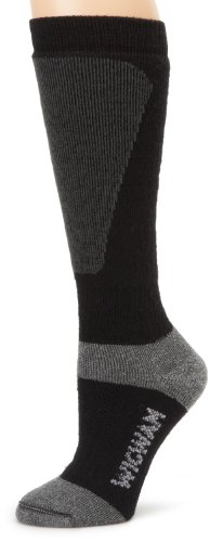 Wigwam Men's Snow Sirocco Knee High Performance Ski Sock, Black, Large