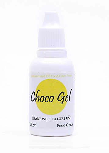 Sugarin Candy Color Choco Gel For Chocolate And Oil Based Products, Yellow, 25 Grams