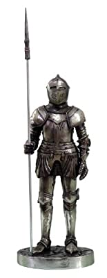 7 Inch Medieval Knight Collectible Statue Figurine Battle Crusader Pike