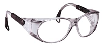 3M EX Protective Eyewear, 12235-00000-20 Clear Anti-Fog Lens, Smoke Frame  (Pack of 1)
