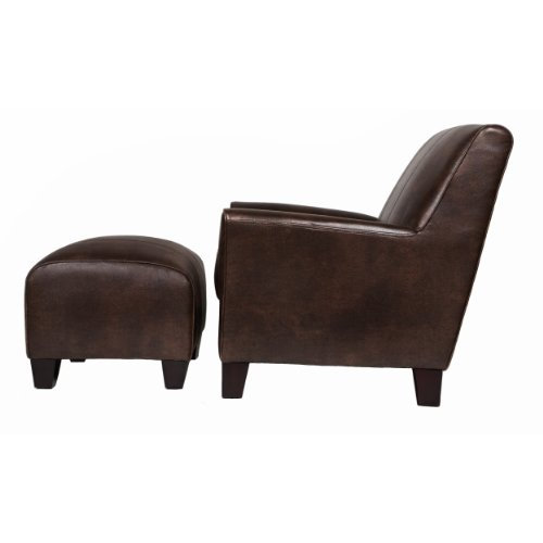 31LjOVpuGdL BEST Franklin Leather Club Chair,  Brown
