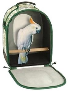 Vo-Toys Pet Voyage Bird Traveler Tropical Print 12 1/4 in x 16 in x 8.5 in