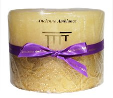 Deluxe Nutmeg Cinnamon Clove Scented 3 Wick Pillar Candle by Ancienne Ambiance