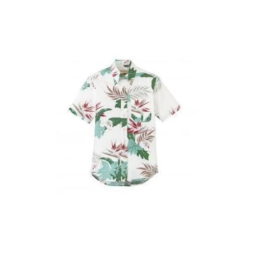 FACEMIX(フェイスミックス) アロハシャツ(ボタンダウンリーフ柄) M ホワイト FB4518U