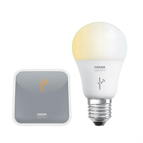 SYLVANIA LIGHTIFY by Osram -Smart Home Starter Kit (1 Bulb + Gateway) A19 60W Tunable White Light Bulb - Warm White to Daylight 2700K - 6500K, Works with Alexa (Smart Starter Kit compare prices)