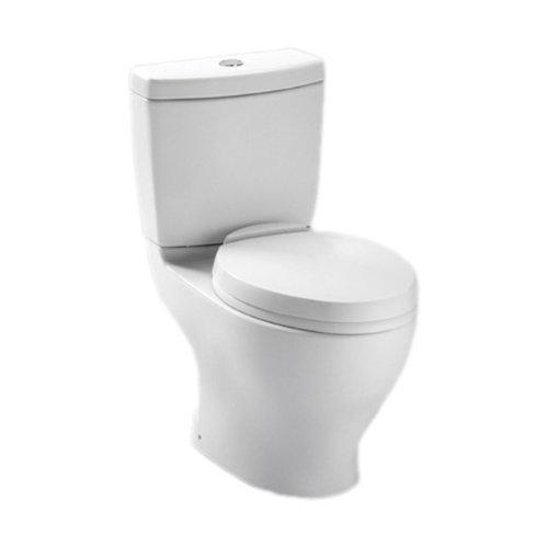 TOTO CST412MF.01 Aquia Dual Flush Elongated Two-Piece Toilet, 1.6GPF & 0.9GPF, Cotton White (Toto Aquia Ii Dual Flush compare prices)