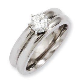 Genuine IceCarats Designer Jewelry Gift Titanium Cz Ring Size 6.00