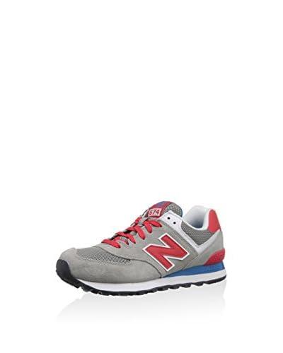 New Balance Zapatillas Wl574 Gris / Rojo