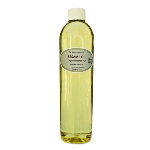 Sesame Oil Refined Cold Pressed Organic 12 Oz front-915620