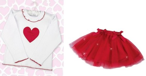 Bearington Baby Valentine Shirt and Twinkle Tutu Skirt Set-18-24 Months