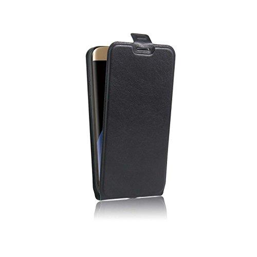 Custodia Galaxy S7 Edge Portafoglio Cover Flip Case con Chiusura Magnetica - Colore Nero - Ordica Italia®
