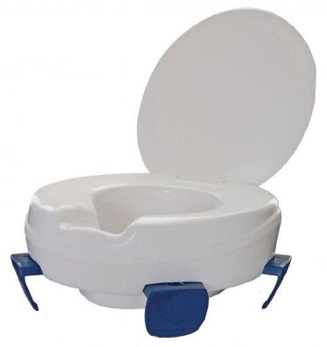 Toilettensitzerhöher, Clipper, mit Deckel, Sitzerhöhung WC vom Stock-Fachmann