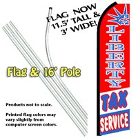 Liberty Tax Service Feather Banner Flag Kit (Flag & Pole)