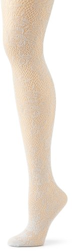 Hue Women's Rose Floral Net Tight