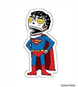 Amazon.com: Superman Inspired Calavera Die Cut Clear Vinyl Sticker