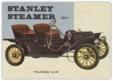 1953 Topps World On Wheels (R714-24) (Non-Sports) Card# 41 1911 Stanley Steamer Touring Car Vgx Condition front-620759