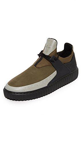 Creative Recreation Men's Castucci Sneakers, Black/Olive, 9 D(M) US