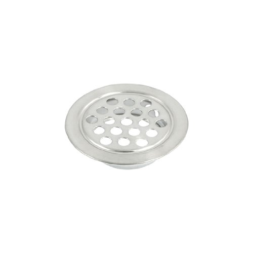 uxcell Stainless Steel 25mm x 8mm Round Mesh Hole Air Vent Louver (Stainless Steel Vent Register compare prices)