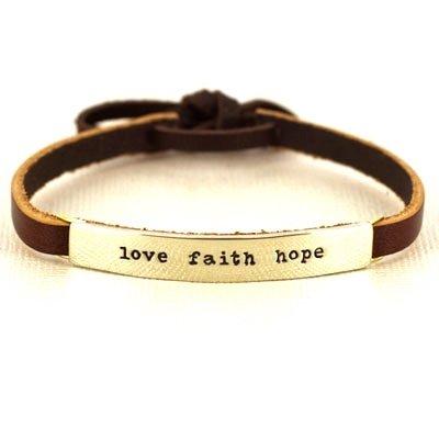 Leather Bracelet: thrill amaze inspire