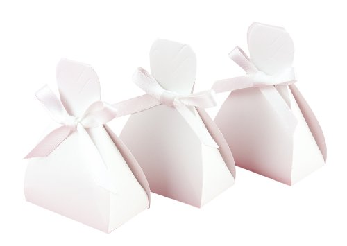 Hortense B. Hewitt Wedding Accessories Gown Favor Boxes, White, Pack of 25