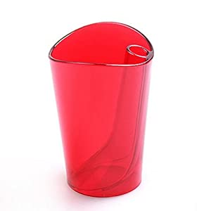 Amazon.com - *Red Flip cup dual purpose bathroom tumbler colorful
