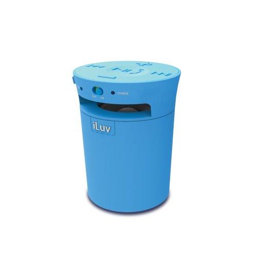 Iluv Mobicup Splash-Resistant Wireless Bluetooth Speaker And Speakerphone For Kindle, Tablet Or Smartphone (Blue)