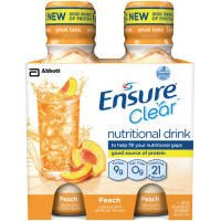Ensure Clear Peach Nutritional Drink, 10 Oz (Case Of 3)