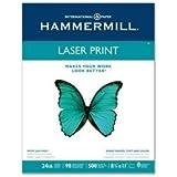 Hammermill Laser Print Paper - 8 1/2'' x 11'' Letter Size - White - 24# - 98 Brightness - 500 sheet Ream