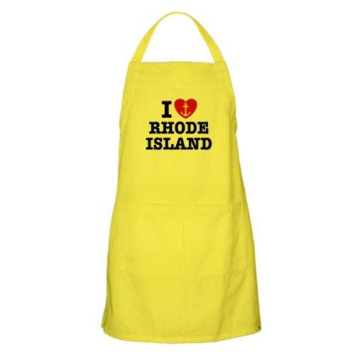 Cafepress I Love Rhode Island BBQ Apron - Standard