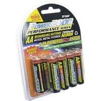 Power2000 AA Rechargeable Batteries, 1.2V Ni-MH, 2950mAh, 10 Pack
