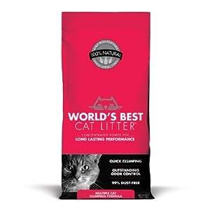 WORLD'S BEST CAT LITTER 391035 Multiple Cat Clumping Litter Formula, 28-Pound