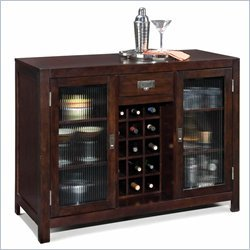 Home Styles City Chic Bar Cabinet in Espresso