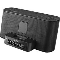 Sony ICF-C1iP - Clock radio with iPod cradle - black