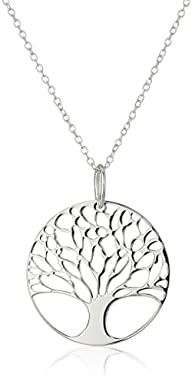 Sterling Silver Tree of Life Disk Cha…