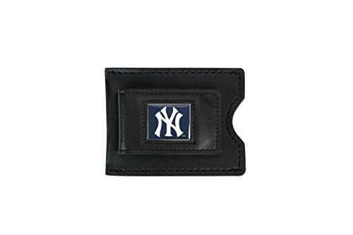 MLB New York Yankees Leather Money Clip and Card Case
