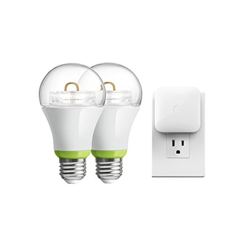 GE Link Starter Kit, 1 Hub and 2 A19 Bulbs, Soft White (2700K), 65-Watt Equivalent, Works with Amazon Alexa (Wemo Led Lighting Starter Set compare prices)