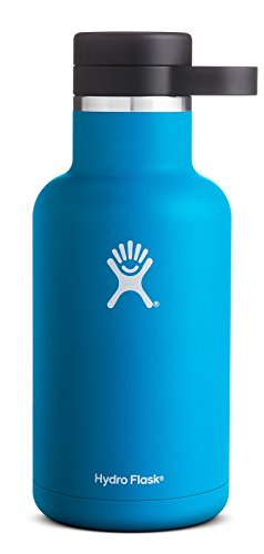 Hydro Flask 64 oz Vacuum Insulated Stainless Steel Beer Growler, Wide Mouth w/Growler Cap, Pacific (Cool Beer Growler compare prices)