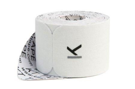 Kt Tape Original Cotton Elastic Kinesiology Theraeputic Tape - 20 Pre-Cut 10' Strips, White