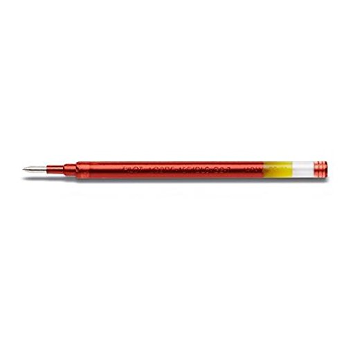 PILOT Lot de 3 Recharges BLS-G2-7 Gel pour stylo G2 / Alphagel Pte 0,7 Rouge