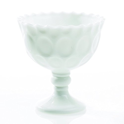 Milk Glass Bowl with Pedestal Base, Heirloom Collection, 4.25 in., White, 6 Pk (Milk Glass Pedestal Bowl compare prices)