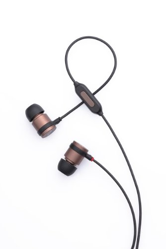 New And Improved Nuforce Ne-700M Titanium Coated In-Ear Headphones With Inline Microphone - Smoky Bronze