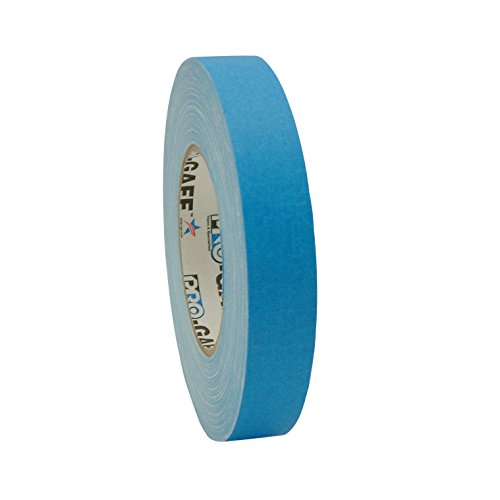 Pro Tapes Pro-Gaff-Neon Premium Fluorescent Gaffers Tape: 1 in. x 50 yds. (Fluorescent Blue)