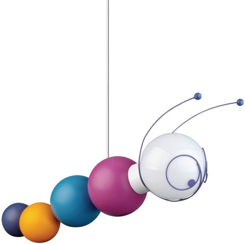 Philips 40093/55/48 Kidsplace Ruby The Caterpillar Pendant Light, Multi-Colored