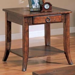 Cheap Franklin End Table with Slate Tile Top and Storage by Coaster (49_AZ_700257)