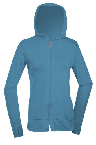 SportHill Women's Crescent Hoodie (Lagoon/Silver), Large
