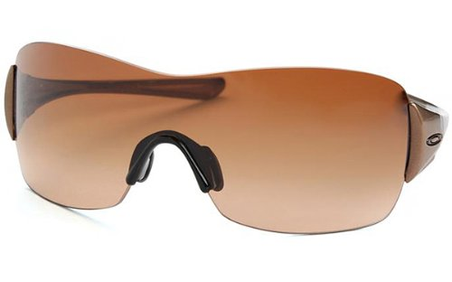 Oakley Women's Miss Conduct Squared Sunglasses (Mink Frame/VR50 Brown Gradient Lens)