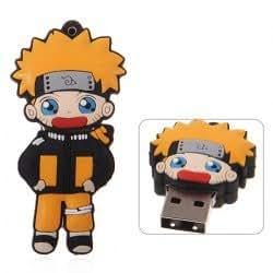 Fashion cartoon Uzumaki 16GB flash drive Silicon Protection U disk memory (Orange)