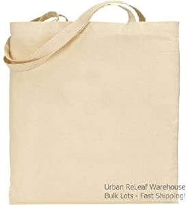 Set of 25 twenty five natural cotton canvas for Arts and crafts tote bags