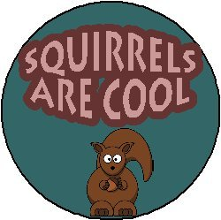 SQUIRRELS ARE COOL 1.25
